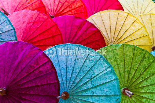 Umbrellas in Chiang Mai, Thailand. : Stock Photo