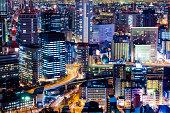 Umeda Osaka by Night, Japan