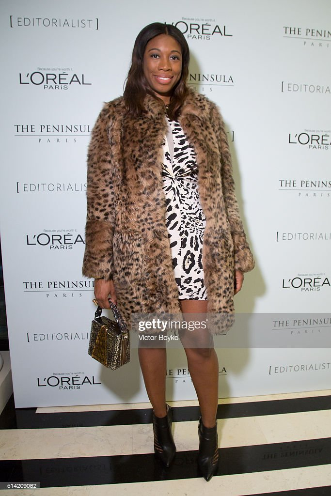 Umindi Francis attends the Editorialist Spring/Summer 2016 Issue Launch Party at the Hotel Peninsula as part of the Paris Fashion Week Womenswear Fall/Winter 2016/2017 on March 7, 2016 in Paris, France.