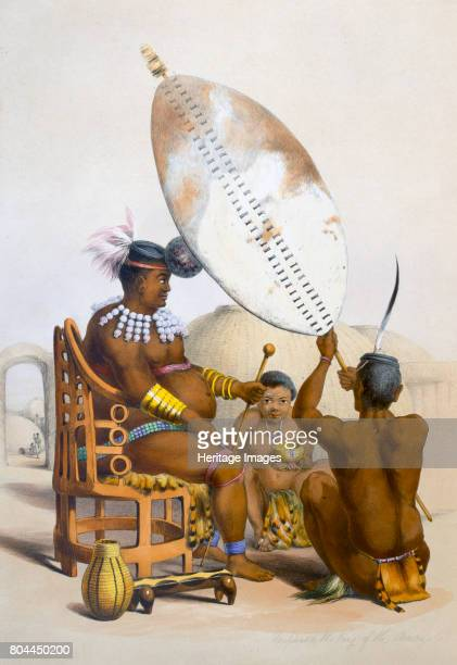 Umpanda the King of the Amazulu 1849 Mpande was king of the Zulu from 1840 until his death in 1872 Plate 11 from The Kafirs Illustrated by George...