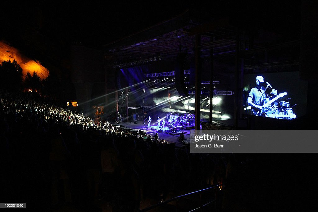 Umphrey's McGee performs at Red Rocks Amphitheatre on September 14 2012 in Morrison Colorado