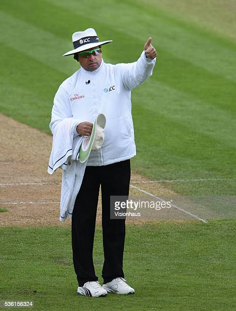 Umpire Aleem Dar during day two of the 2nd Investec Test match between England and Sri Lanka at Emirates Durham ICG on May 28 2016 in ChesterleStreet...