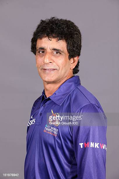 Umpire Asad Rauf poses during a portrait session ahead of the ICC Twenty20 World Cup on September 14 2012 in Colombo Sri Lanka