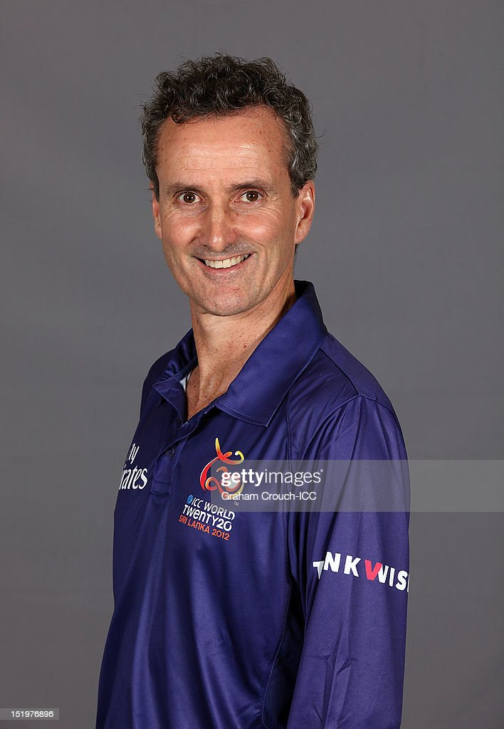 Umpire <a gi-track='captionPersonalityLinkClicked' href=/galleries/search?phrase=Billy+Bowden&family=editorial&specificpeople=228578 ng-click='$event.stopPropagation()'>Billy Bowden</a> poses for a portrait ahead of the ICC T20 World Cup on September 14, 2012 in Colombo, Sri Lanka.