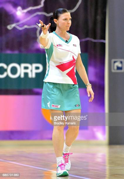 Umpire Helen George during the round 13 Super Netball match between the Lightning and the Swifts at University of the Sunshine Coast on May 20 2017...