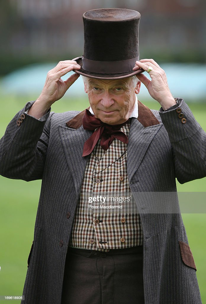 Umpire Lord Archer takes to the field for a Victorian cricket match at Vincent Square on May 29, 2013 in London, England. The match celebrates the 150th anniversary the Wisden Cricketers' Almanack. The almanack is a cricket reference book published annually in the United Kingdom.