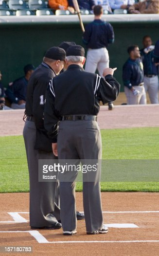 Umpire Meeting on the Plate