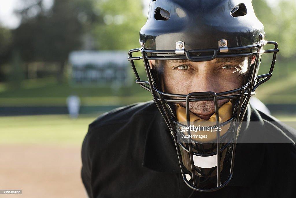 Umpire on baseball field