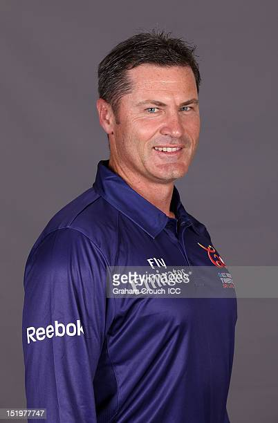 Umpire Simon Taufel poses for a portrait ahead of the ICC T20 World Cup on September 14 2012 in Colombo Sri Lanka