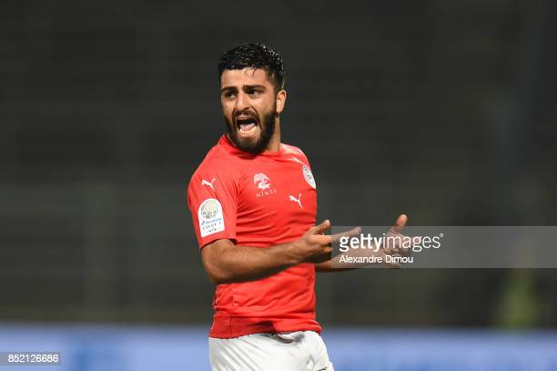 Umut Bozok of Nimes during the French Ligue 2 mach between Nimes and Niort at on September 22 2017 in Nimes France
