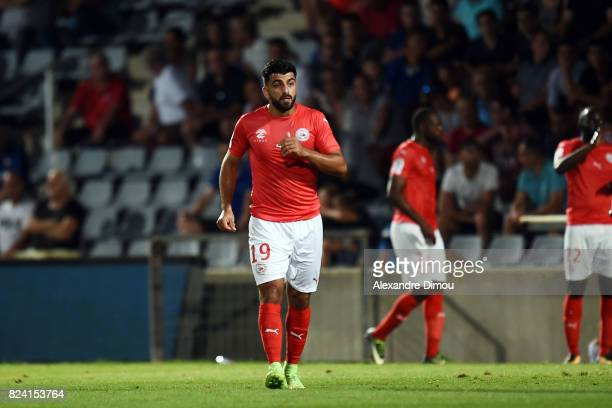 Umut Bozok of Nimes during the French Ligue 2 match between Nimes and Reims on July 28 2017 in Nimes France