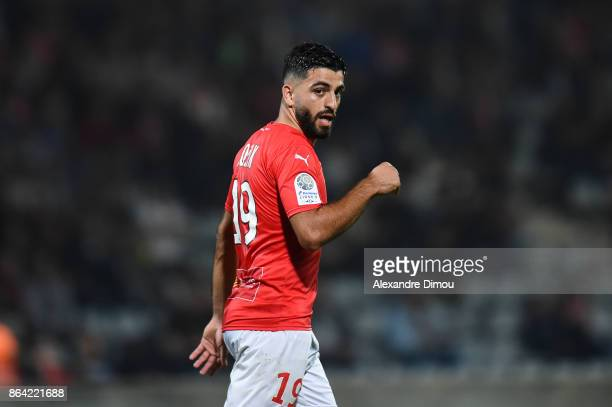 Umut Bozok of Nimes during the Ligue 2 match between Nimes Olympique and Stade Brestois at on October 20 2017 in Nimes France