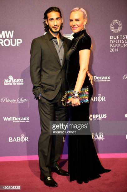 Umut Kekilli and Natascha Ochsenknecht attend Babor at the Duftstars Awards 2014 at arena Berlin on May 15 2014 in Berlin Germany