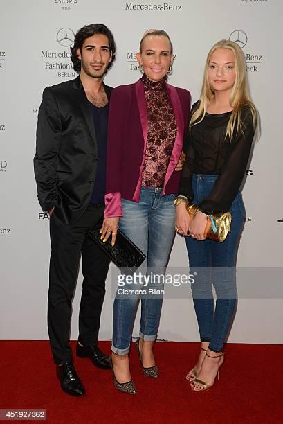 Umut Kekilli Natascha Ochsenknecht and Cheyenne Ochsenknecht attend the Guido Maria Kretschmer show during the MercedesBenz Fashion Week...