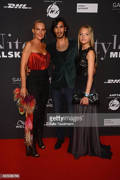 Umut Kekilli Natascha Ochsenknecht and Cheyenne Ochsenknecht attend the Michalsky Style Night at Tempodrom on July 11 2014 in Berlin Germany