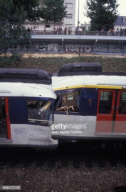 Un accident de RER fait 30 blessés le 27 juillet 1992 à Vincennes France