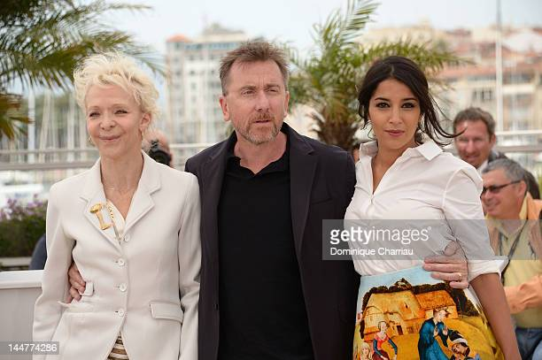 Un Certain Regard Jury member Tonie Marshall Leila Bekhti and Jury President Tim Roth attends the Un Certain Regard Photocall during the 65th Annual...