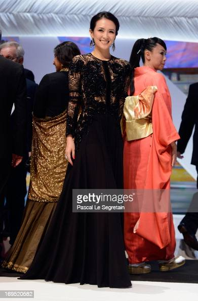 'Un Certain Regard' jury member Zhang Ziyi attends the 'Zulu' Premiere and Inside Closing Ceremony during the 66th Annual Cannes Film Festival at the...
