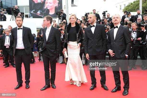 Un Certain Regard jury members Karel Och Mohamed Diab President of the jury Uma Thurman and jury members Reda Kateb and Joachim Lafosse attends the...