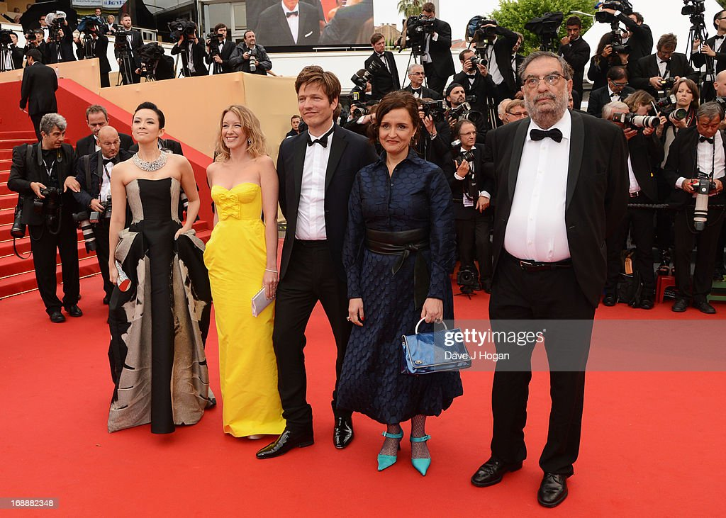 'Un Certain Regard' jury members Zhang Ziyi Ludivine Sagnier Thomas Vinterberg Ilda Santiago and Enrique Gonzalez attend 'The Bling Ring' premiere...