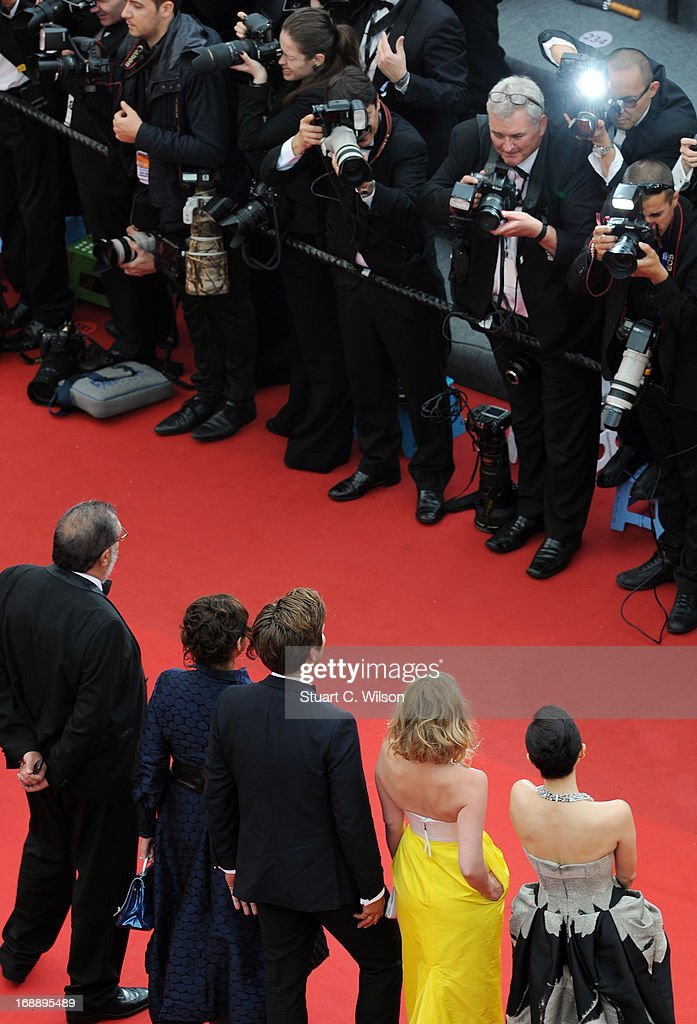 'Un Certain Regard' jury members Zhang Ziyi, <a gi-track='captionPersonalityLinkClicked' href=/galleries/search?phrase=Ludivine+Sagnier&family=editorial&specificpeople=211356 ng-click='$event.stopPropagation()'>Ludivine Sagnier</a>, <a gi-track='captionPersonalityLinkClicked' href=/galleries/search?phrase=Thomas+Vinterberg&family=editorial&specificpeople=2247734 ng-click='$event.stopPropagation()'>Thomas Vinterberg</a>, Ilda Santiago and Enrique Gonzalez attend 'The Bling Ring' premiere during The 66th Annual Cannes Film Festival at the Palais des Festivals on May 16, 2013 in Cannes, France.