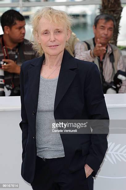 Un Certain Regard Jury President Claire Denis attends the Un Certain Regard Jury Photocall held at the Palais Des Festivals during the 63rd Annual...