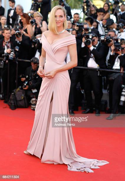 Un Certain Regard jury president Uma Thurman attends the 'Ismael's Ghosts ' screening and Opening Gala during the 70th annual Cannes Film Festival at...