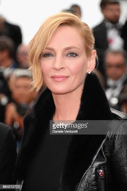 Un Certain Regard jury president Uma Thurman attends the 'Loveless ' screening during the 70th annual Cannes Film Festival at Palais des Festivals on...