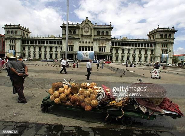 Un hombre vende cocos frente al Palacio Nacional de la Cultura en Ciudad de Guatemala el 12 de setiembre de 2005 Expertos de 16 paises de...