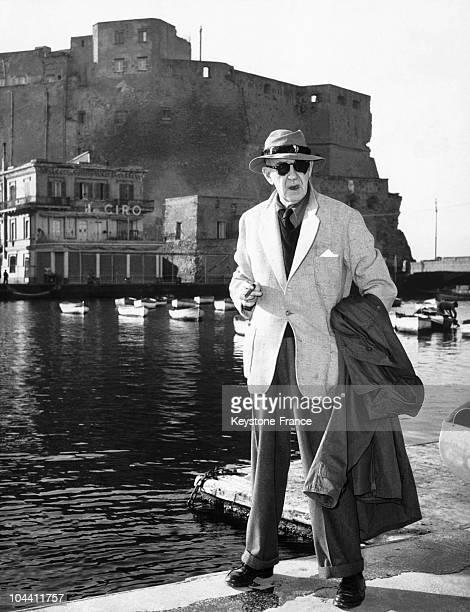 Un portrait du realisateur americain John FORD a Naples en 1954 au moment de la sortie de son film MOGAMBO