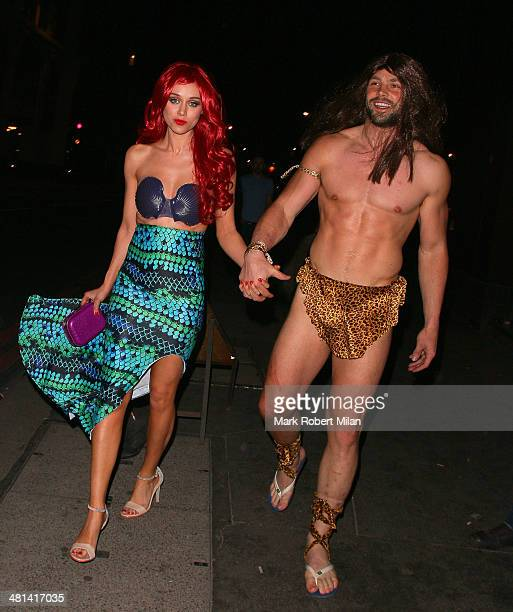 Una Foden and Ben Foden attend Rochelle Humes' Disney themed birthday party at Steam and Rye restaurant and club on March 29 2014 in London England