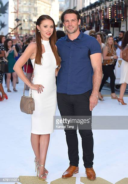 Una Foden and Ben Foden attend the European Premiere of 'Magic Mike XXL' at Vue West End on June 30 2015 in London England