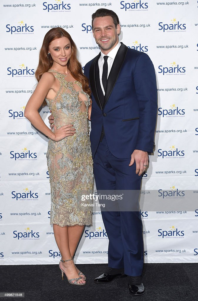 Una Foden and <a gi-track='captionPersonalityLinkClicked' href=/galleries/search?phrase=Ben+Foden&family=editorial&specificpeople=542798 ng-click='$event.stopPropagation()'>Ben Foden</a> attend the Sparks Winter Ball at Old Billingsgate Market on December 3, 2015 in London, England.