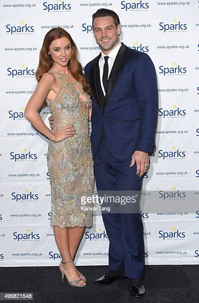 Una Foden and Ben Foden attend the Sparks Winter Ball at Old Billingsgate Market on December 3 2015 in London England