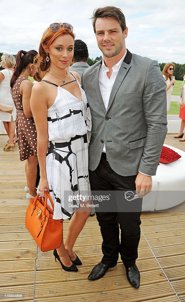 Una Healy (L) and Ben Foden attend day 2 of the Audi Polo Challenge at Coworth Park Polo Club on August 4, 2013 in Ascot, England.