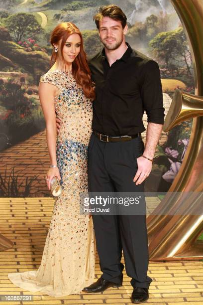 Una Healy and Ben Foden attend the European Film Premiere of 'Oz The Great And Powerful' at The Empire Cinema on February 28 2013 in London England