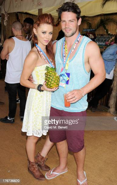 Una Healy and Ben Foden attend the Mahiki Coconut Backstage Bar during day 2 of V Festival 2013 at Hylands Park on August 18 2013 in Chelmsford...