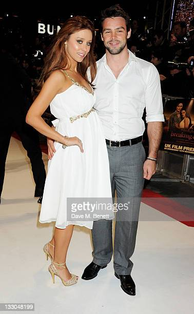 Una Healy and Ben Foden attend the UK Premiere of 'The Twilight Saga Breaking Dawn Part 1' at Westfield Stratford City on November 16 2011 in London...