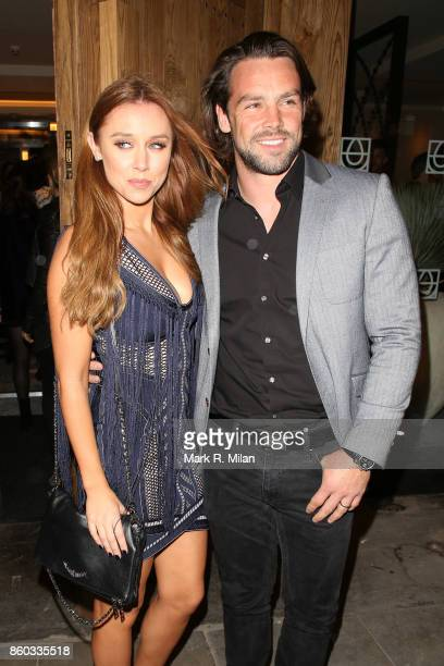 Una Healy and Ben Foden attending the Cantina Laredo launch party on October 11 2017 in London England