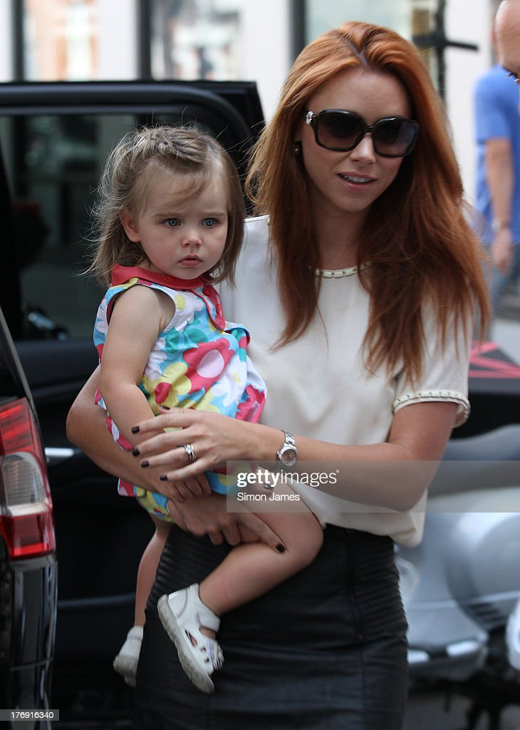 Una Healy and her daughter Aoife Belle Foden sighting at BBC Radio One on August 19, 2013 in London, England.