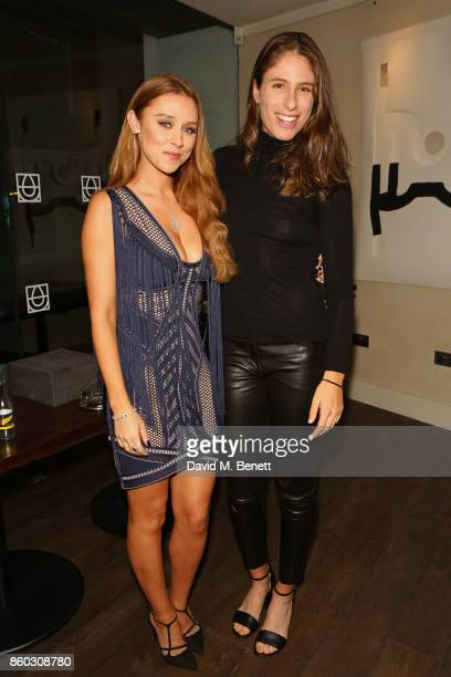 Una Healy and Johanna Konta attend the launch of The Great Eight Guacamoles London's first Guacamoles and Tequila Bar at Cantina Laredo on October 11...