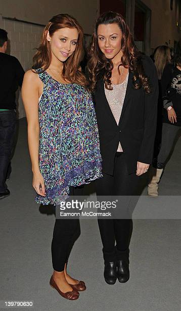 Una Healy and Michelle Heaton attend the press day of 'The Baby Show' at ExCel on February 25 2012 in London England