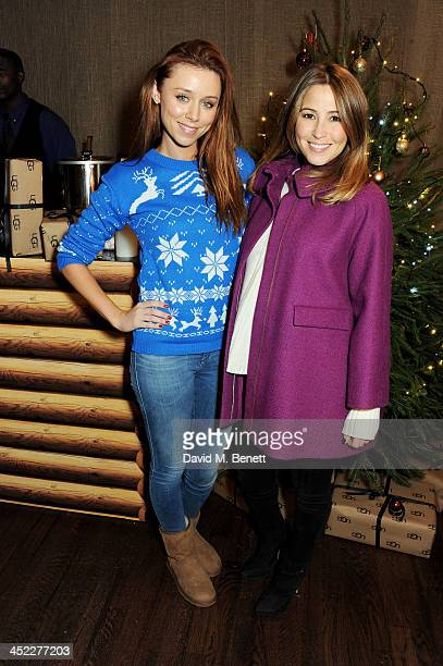 Una Healy and Rachel Stevens attend the launch of the UGG Christmas Grotto at Duke of York Square on November 27 2013 in London England