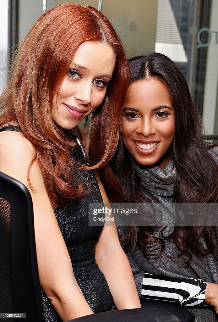 <a gi-track='captionPersonalityLinkClicked' href=/galleries/search?phrase=Una+Healy&family=editorial&specificpeople=5523039 ng-click='$event.stopPropagation()'>Una Healy</a> and Rochelle Humes of The Saturdays visit 'The Morning Jolt With Larry Flick' at the SiriusXM Studios on January 17, 2013 in New York City.