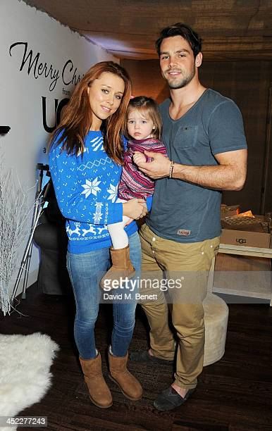 Una Healy daughter Aoife Belle Foden and Ben Foden attend the launch of the UGG Christmas Grotto at Duke of York Square on November 27 2013 in London...
