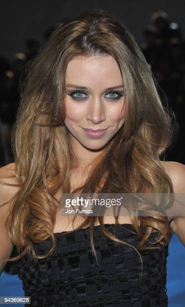 Una Healy of the Saturdays attends the World Premiere of 'Avatar' at Odeon Leicester Square on December 10 2009 in London England