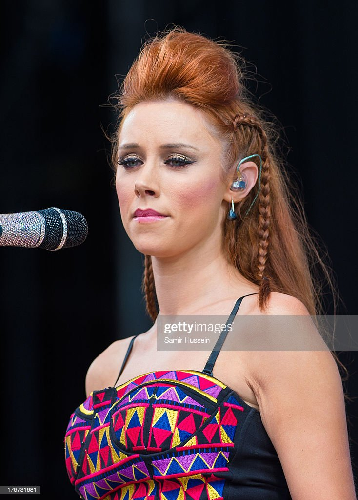 Una Healy of The Saturdays performs live on the Virgin Media Stage on day 2 of V Festival at Hylands Park on August 18, 2013 in Chelmsford, England.