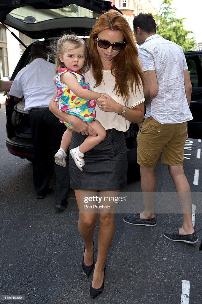 <a gi-track='captionPersonalityLinkClicked' href=/galleries/search?phrase=Una+Healy&family=editorial&specificpeople=5523039 ng-click='$event.stopPropagation()'>Una Healy</a> of The Saturdays sighted at BBC Radio 1 on August 19, 2013 in London, England.