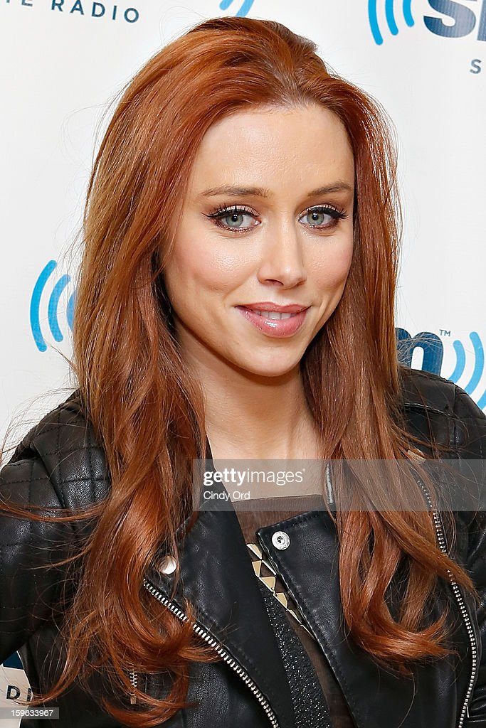 Una Healy of The Saturdays visits the SiriusXM Studios on January 17, 2013 in New York City.