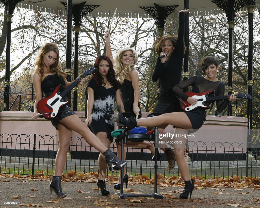 Una Healy Vanessa White Molly King Rochelle Wiseman and Frankie Sandford attend photocall to launch Band Hero game for PS3 Wii and Xbox 360 at Hyde...